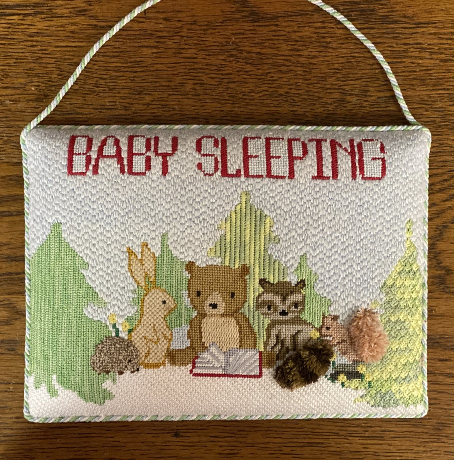 Baby Sleeping Custom Design Door Sign  -Finished