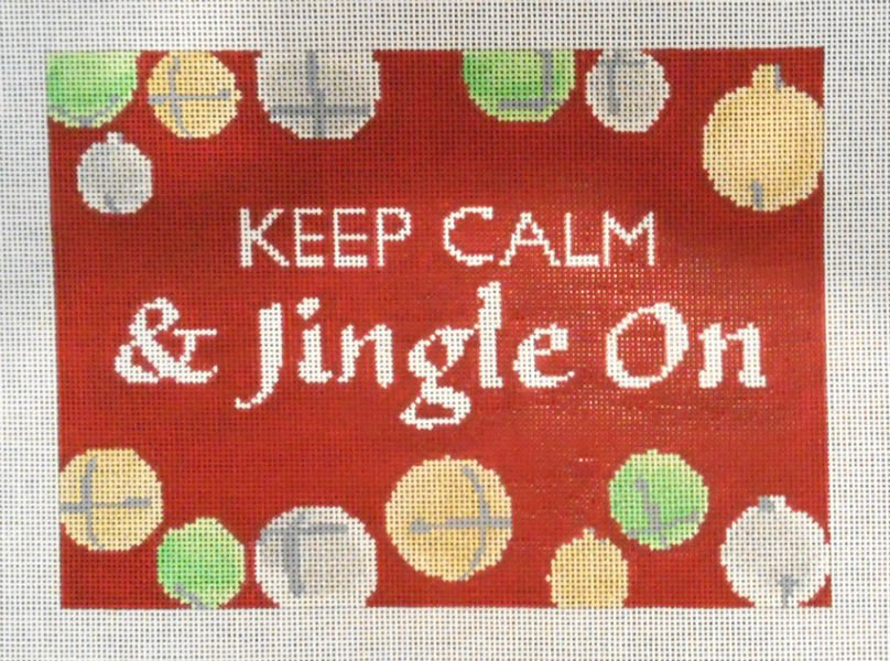 Keep Calm & Jingle On by JL Canvas Company