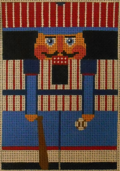 Baseball Nutcracker Roll-up from Julia's Needleworks