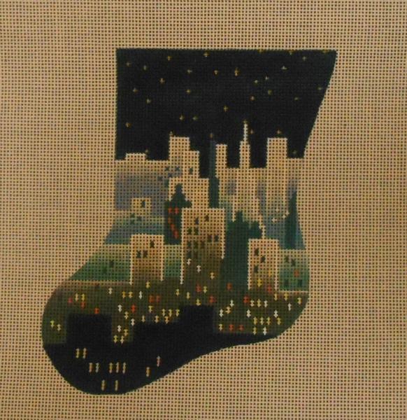 City Skyline Mini Stocking from Julia's Needleworks