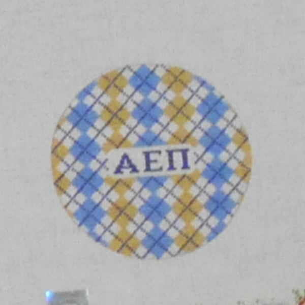 Alpha Epsilon Pi Fraternity Argyle Ornament from Kangaroo Paw