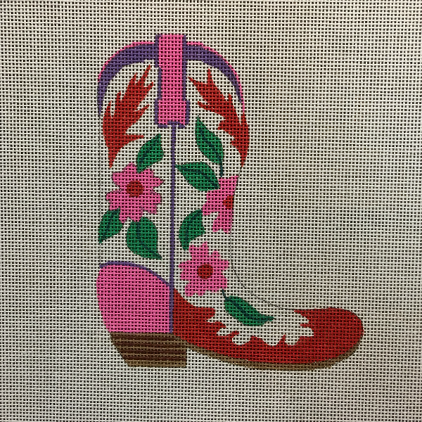 Pink Fiesta Floral Cowgirl Boot Ornament from Kate Dickerson