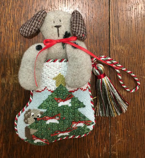 Doggy Mini Stocking from Kathy Schenkel - finished