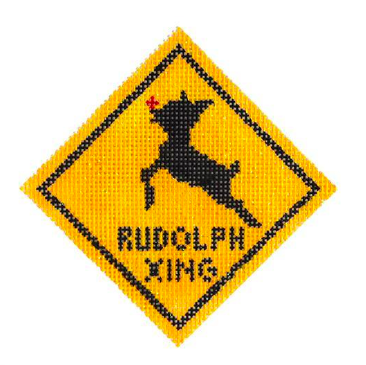 Rudolph Crossing Ornament from Kimberly Ann