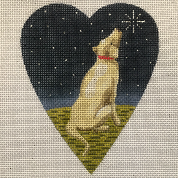 Midnight Golden Labrador Heart from Kirk & Bradley