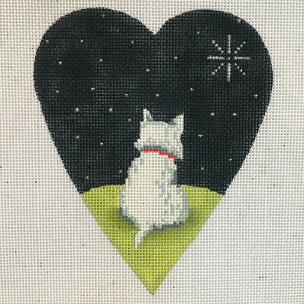 Midnight West Highland Terrier Heart from Kirk & Bradley