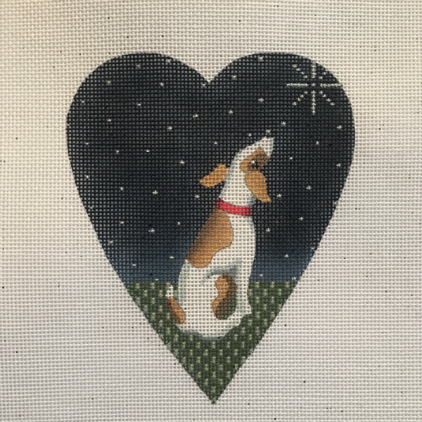 Midnight Jack Russell Heart from Kirk & Bradley