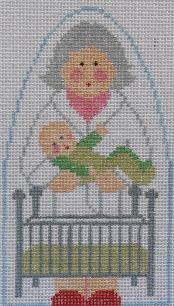 Mrs Claus puts baby to bed