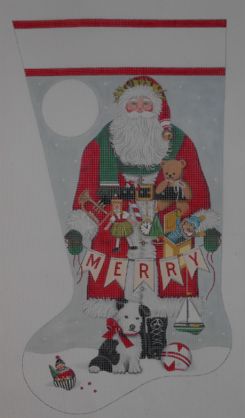 Merry Santa Stocking by Mary Lake Thompson from Melissa Shirley