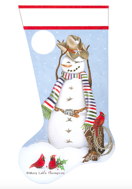 Cowboy Snowman Stocking by Mary Lake Thompson from Melissa Shirley