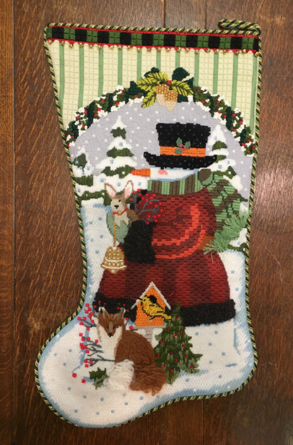 Snowman Christmas Stocking from Melissa Shirley - finished
