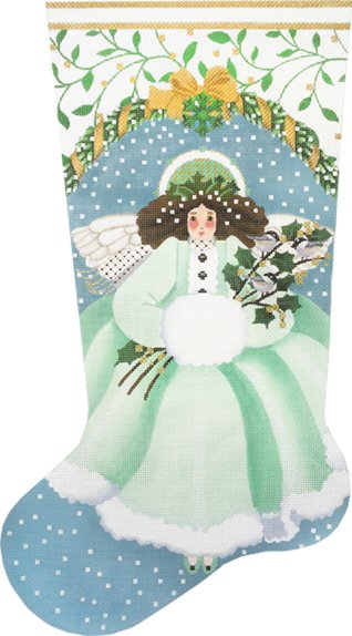 Wintergreen Angel Stocking by Melissa Shirley Designs