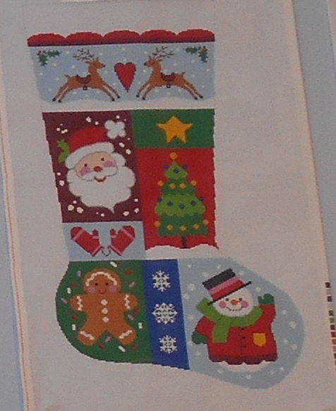 Noel Sampler Stocking from Colonial Needle