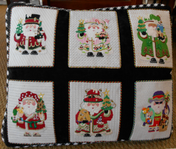 OWD 2015 Strictly Christmas Santas finished as a pillow