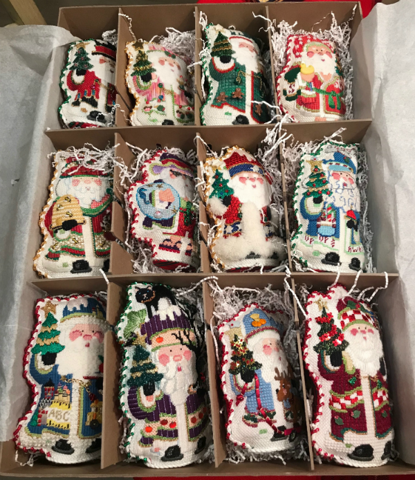 A dozen OWD 2015 Series Strictly Christmas Chubby Santas - finished