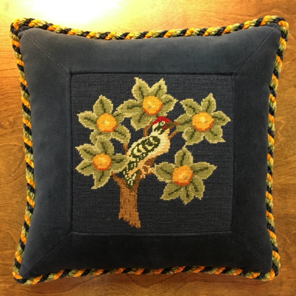 Partridge in a Pear Tree Pillow - finished