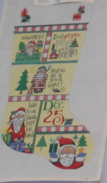 Dec 25 Patchwork Stocking from Patti Mann