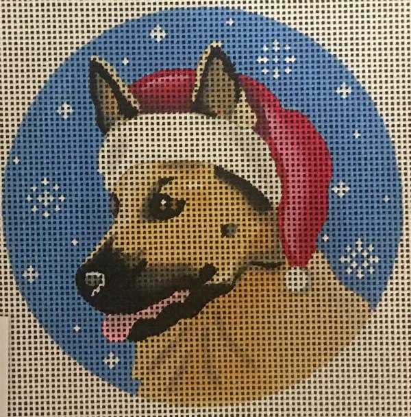 Christmas German Shepherd from Pepperberrry
