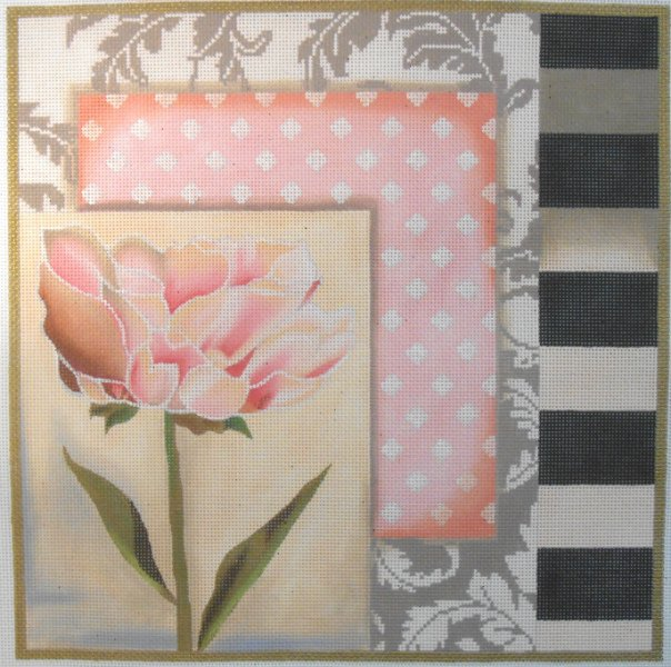 Pink Flower with Borders by Lani