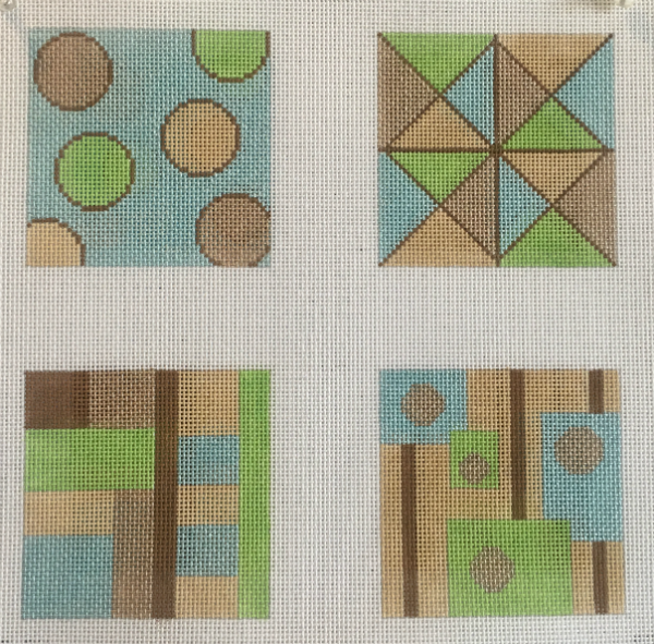 Pastel Geometric Coasters from Point 2 Pointe