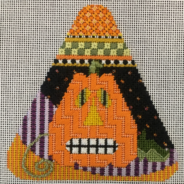 Candy Corn - The Pumpkin from Needle Deeva - stitched