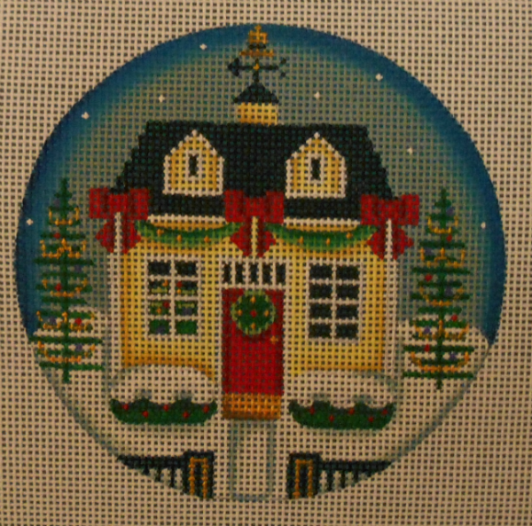 Christmas Cottage Ornament by Rebecca Wood