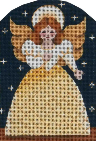 Dome Nativity Yellow Angel by Rebecca Wood