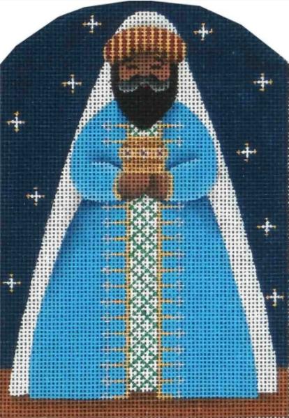 Dome Nativity Blue Wiseman by Rebecca Wood