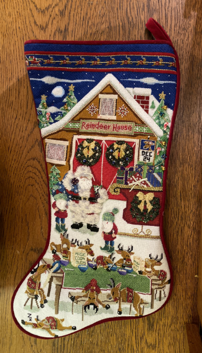 Reindeer Games Stocking - Finished