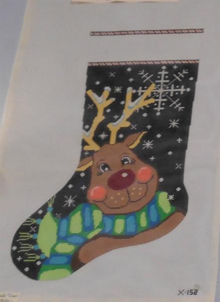 Snowflake Reindeer Stocking from Elizabeth Turner