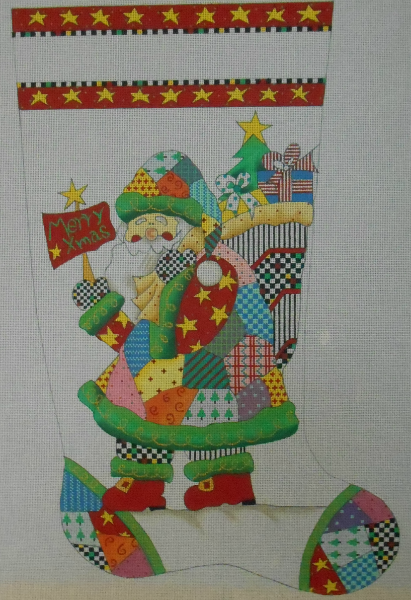 Patchwork Santa Stocking from Renaissance Designs