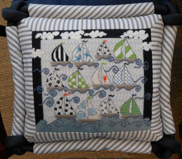 Pippin 12 Sailboats Pillow