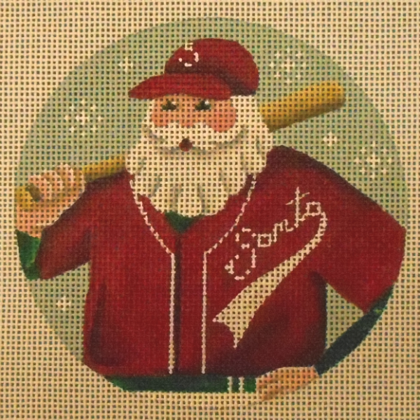 Team Santa Baseball Player Ornament from Rebecca Wood