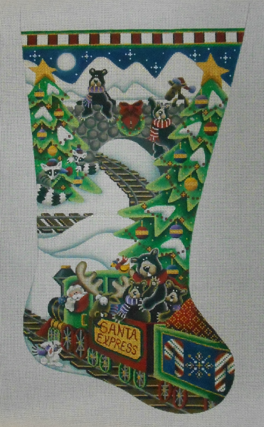 Santa Express Stocking by Rebecca Wood