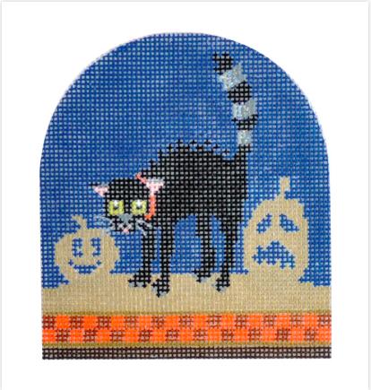 Halloween Cat from Kirk & Bradley + Stitch Guide by June McKnight