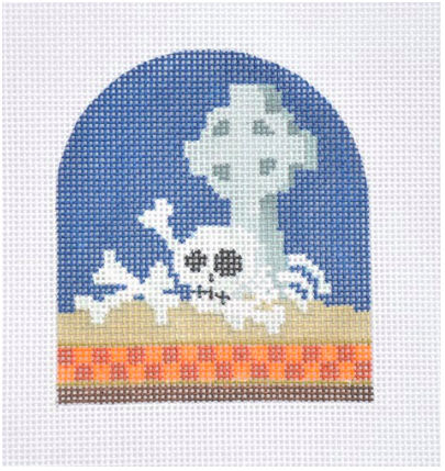 Halloween Bones from Kirk & Bradley + Stitch Guide by June McKnight