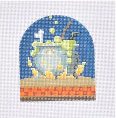 Halloween Cauldron from Kirk & Bradley + Stitch Guide by June McKnight