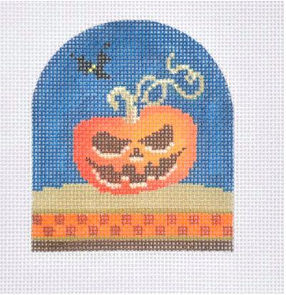 Halloween Jack o'Lantern from Kirk & Bradley + Stitch Guide by June McKnight