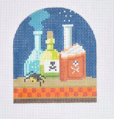 Halloween Poison Bottles from Kirk & Bradley + Stitch Guide by June McKnight