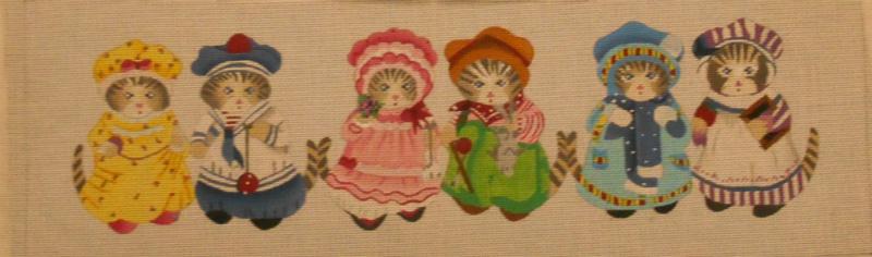 Six Little Kittens from Julia's Needlework