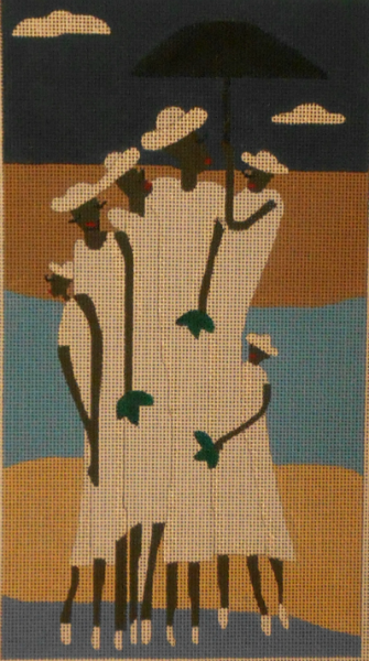Six Women in White by BB Needlepoint Designs