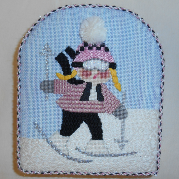 Skiing Girl from Mile High Princess finished