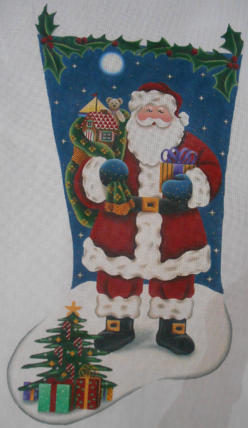 Traditional Santa Stocking by Rebecca Wood