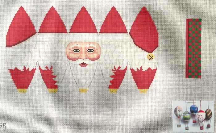 3D Hot Air Balloon - Santa's Face - from Susan Roberts