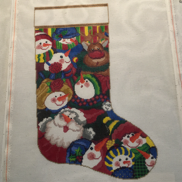 Snowman Scatter Stocking by Susan Treglown