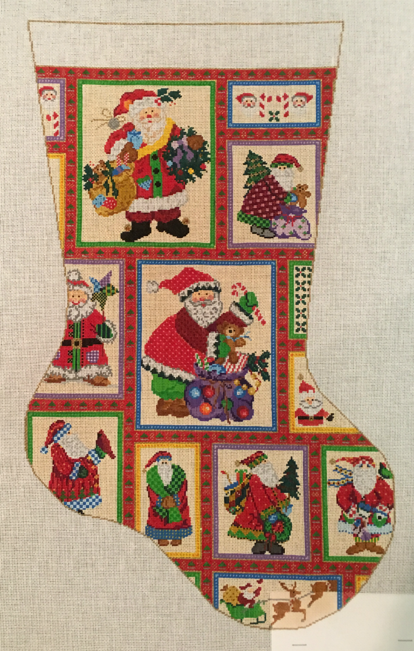 Santa Collage Stocking by Susan Treglown