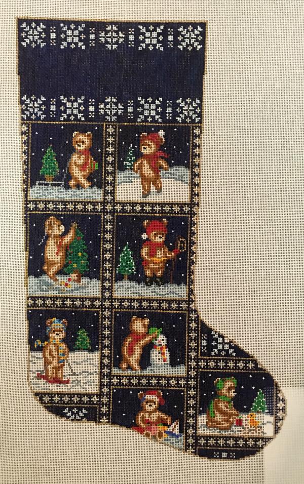 Teddy Bear Stocking by Susan Treglown