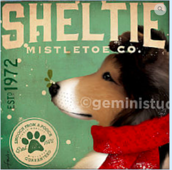 Sheltie Mistletoe Co. from Tango & Chocolate