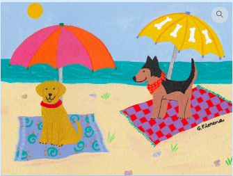Dogs at the Beach from Tango & Chocolate