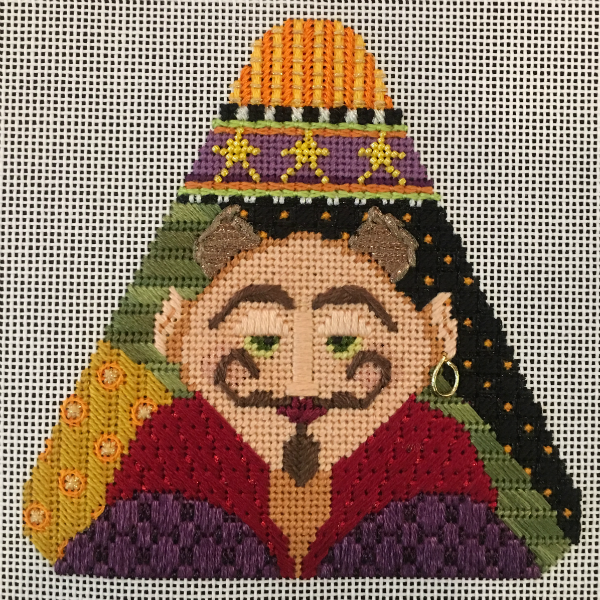 Candy Corn - The Devil from Needle Deeva - stitched